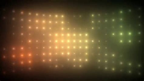 Multicolored Wall of Lights Background Motion Video Loops