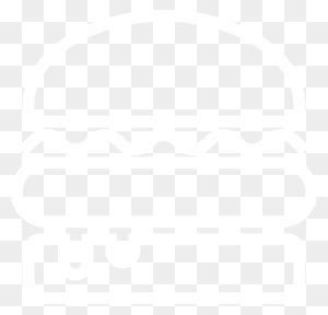 Logo - Burger Vector Black And White - Free Transparent