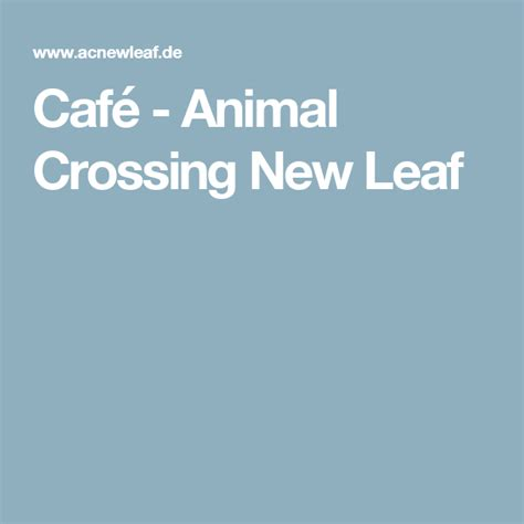Café - Animal Crossing New Leaf | Aushilfe, Kaffee trinken
