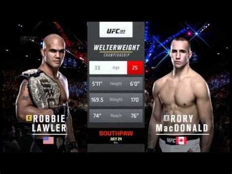UFC New Tale of the Tape theme - 2015 - YouTube