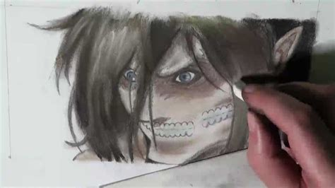 How to Draw Eren Titan Form - Shingeki no Kyojin 進撃の巨人アニメ