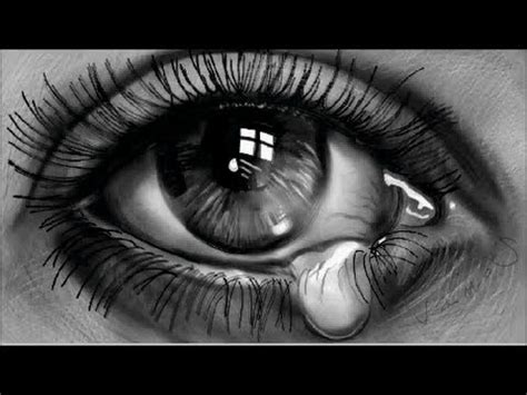 Teardrop, How to Draw a Realistic Eye, Time Lapse - YouTube