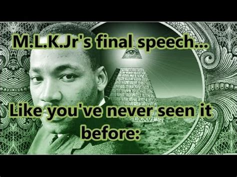 """Martin Luther King's Last Speech: """"I've Been To The"""