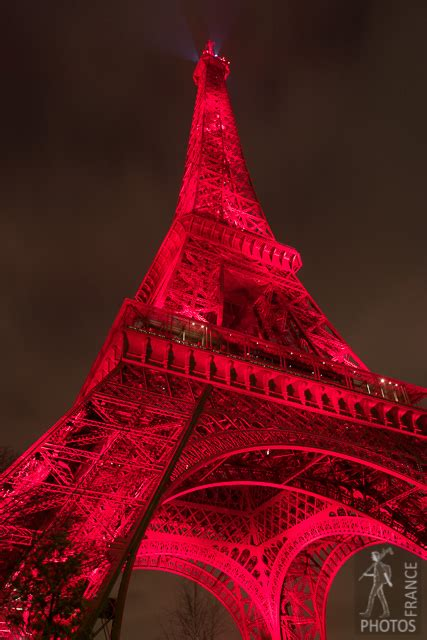 Eiffel tower in red - Eiffel Tower | France in Photos